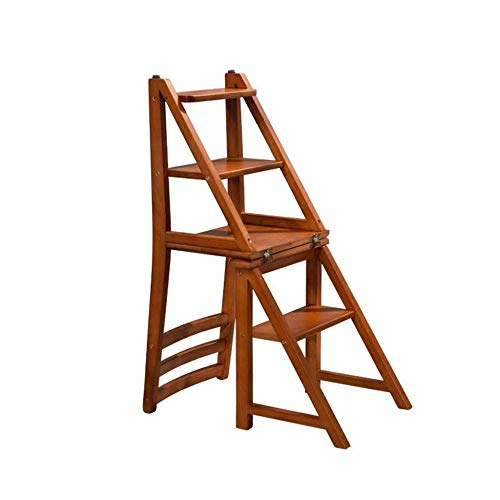 yjll Opvouwbare Stap Kruk 4-staps Houten Ladder Kruk Anti-slip Multifunctionele Slaapkamer Woonkamer