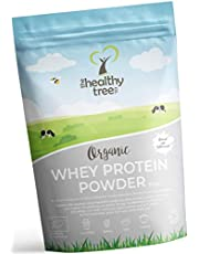 Organic Whey Protein Powder 300g (Unflavoured) - High in Amino Acids and BCAAs, Free 15g Scoop - 80% Pure Organic Whey Protein from Grass Fed Cows by TheHealthyTree Company