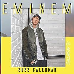 EMINEM 2022 CALENDAR: EMINEM 2022 CALENDAR 16 Months Calendar 2022 Monthly Square Celebrity Calendar