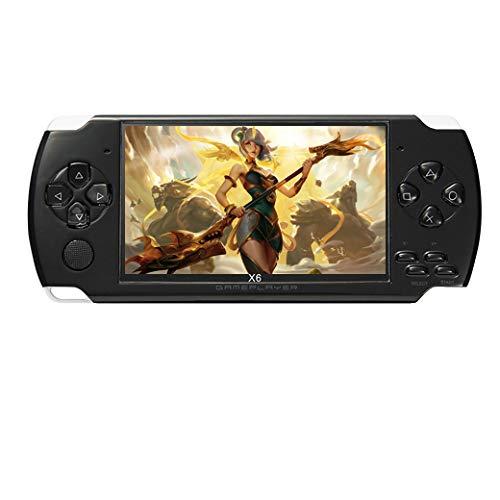 Consola de juegos portátil JXD de 4.3 pulgadas y 8GB incorporada en 1200 + juegos de video reales para juegos gba/gbc/sfc/fc/smd juegos mp3/mp4/mp5 DV/DC (negro)