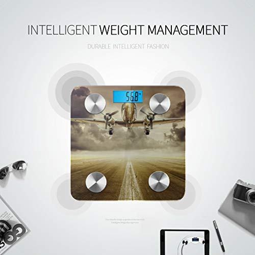 Closeup Historical Vintage Airplane Travel Bathroom Scales Most Accurate Weighing Scales Best Rated Bathroom Scales Tracks 8 Key Compositions Analyzer Sync with Fitness Apps 400 Lbs