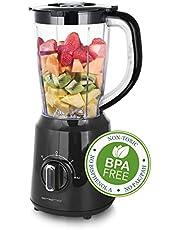Emerio blender, BPA-vrij, crush ijsfunctie, 1,5 l reservoir, 2 snelheden + pulse-functie, meseenheid van roestvrij staal, veiligheidsschakelaar, vaatwasmachinebestendig, 500 watt