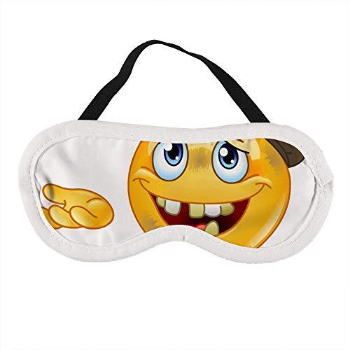 Draagbaar Oogmasker voor Mannen en Vrouwen, Homeless Emoticon Vector Image De Beste Slaap masker voor Reizen, dutje, geven U De Beste Slaap Omgeving