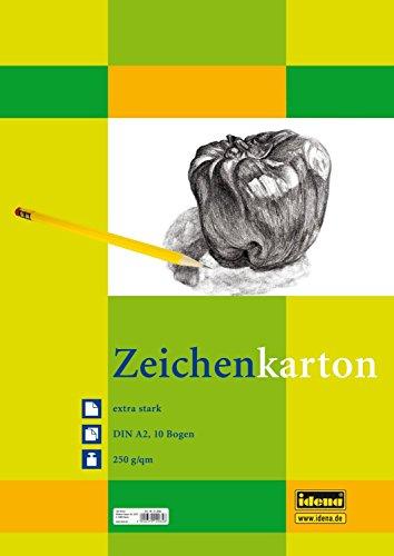 Idena 212065 Zeichenkarton extra stark, DIN A2, 250 g / m², 10 Bogen (2er Aktionspack)