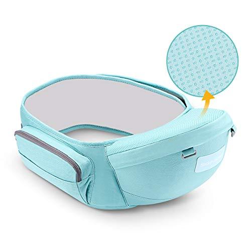 SGODDE Hipseat Marsupio, Ergonomico Neonati Marsupio Sicurezza Supporto, Carrier Porta Bambino, La cintura è regolabile per una lunghezza Massima di 45,2 '' / 115 cm, Bambino da 0-36 Mesi(3 a 25 Kg)