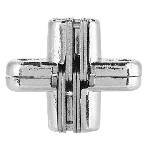 Zinklegering koudgewalst staal verborgen scharnieren onzichtbaar verborgen kruis deurscharnier lager zilver voor vouwdeur scherm klaptafel M