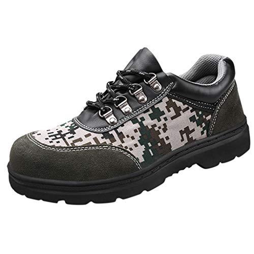 Herren Damen Laufschuhe Atmungsaktiv Turnschuhe Schnürer Sportschuhe Sneaker Anti Piercing Sicherheitsschuhe Camouflage Arbeitsschuhe