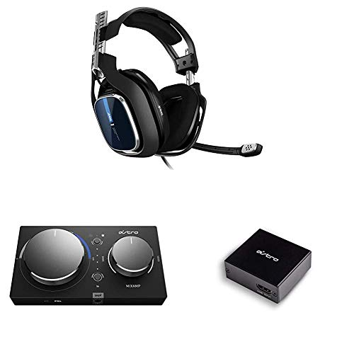 ASTRO Gaming A40 TR Wired Headset with Astro Audio V2 with ASTRO Gaming MixAmp Pro TR with Dolby Audio & ASTRO Gaming HDMI Adapter for Playstation 5