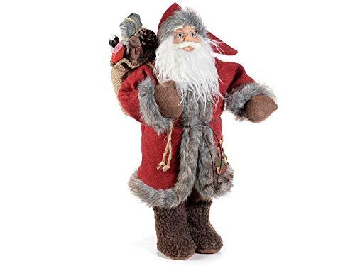 Gruppo Maruccia Babbo Natale in Legno Gigante Decorazione per casa e vetrine 47 Centimetri