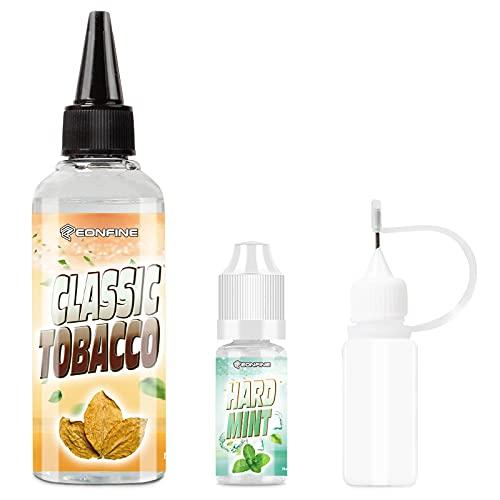 Eonfine 電子タバコ リキッド vape リキッド タバコ味 ベイプ リキッド 105ml大容量 メンソール10ml付き 10mlニードルボトル付き DIY可能 ニコチンなし