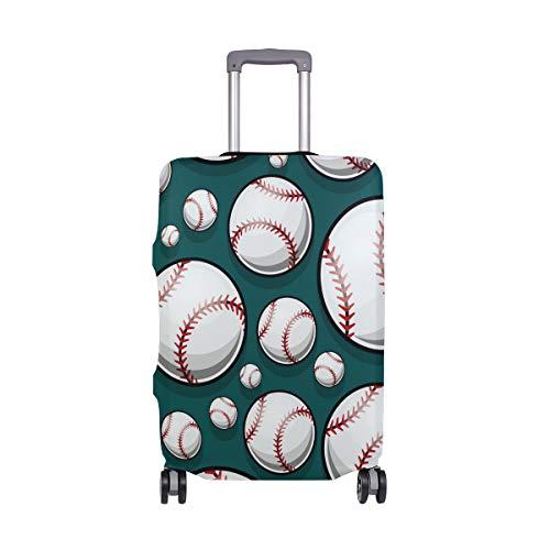 ALINLO American Baseball Muster Gepäck, Koffer, Reiseschutz, passend für 18-32 Zoll, Mehrfarbig (Mehrfarbig) - sdv6464sdb339