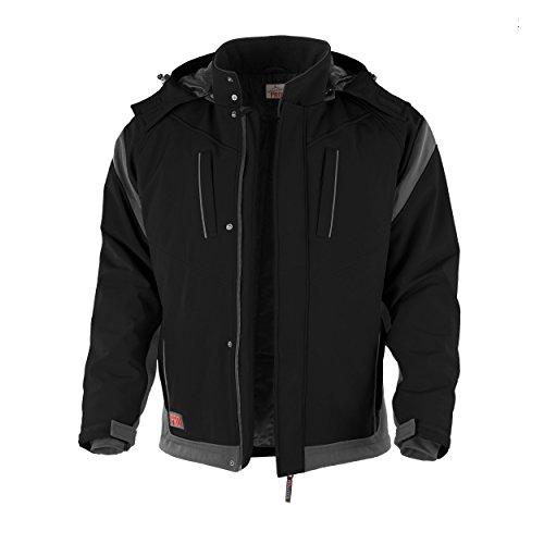 PRO-Softshelljacke schwarz/grau Grösse XL