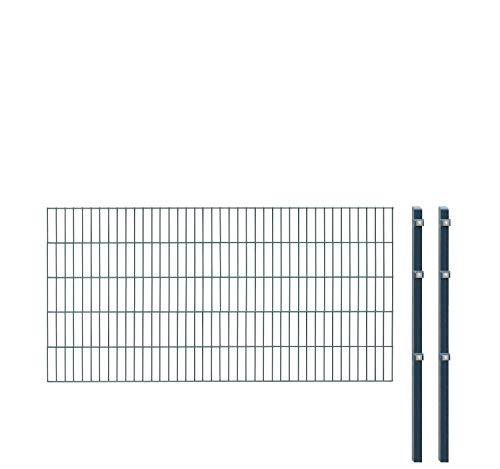 Arvotec Einstabmatten, H 100 cm, anthrazit (RAL7016), L 10-50m - Drahtstärke 8/6/4mm - langlebig, robust & preisgünstig (Einstabmatten, 100 cm, anthrazit, 10 m)