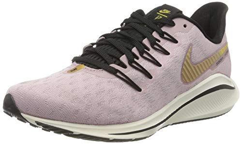 Nike Women's WMNS AIR Zoom Vomero 14 Running Shoe, Plum Chalk Metallic Gold Infinite Gold, 7.5 UK