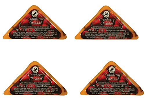 Northwoods Cheddar Cheese CRANBERRY CHEDDAR TRIANGLE 2 oz (...