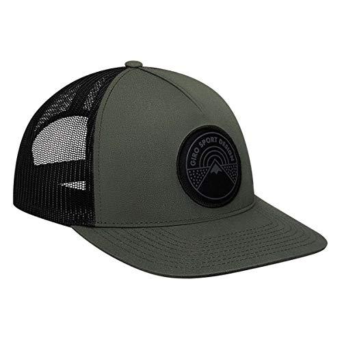Giro Unisex - Volwassenen Retro Trucker Cap fietskleding, groen/zwart circle, één maat