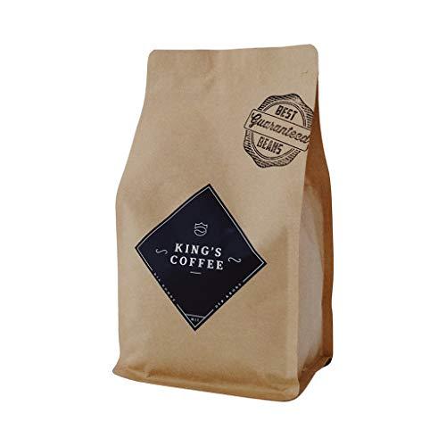 BLACK SELECTION - prämierter Arabica-Robusta Espresso-Bohnen-Blend | von Hand geröstet & verpackt | süße & schokoladige Röstaromen | ganze Kaffeebohnen für Vollautomaten & Siebträger