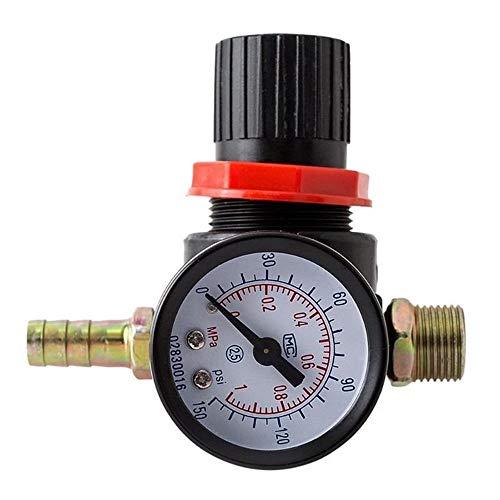 Pressure Reducer Regulator manometer Water Compressor Hydraulische Tester spuitpistool luchtdruk Reguleren Meter - zwart
