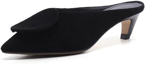 damen Schuhe Frühling Frühling Frühling Sommer Spitze Sandalen Slipper Leder Oxford Schuhe Einfache Temperament Schuhe für Büro & Karriere Kleid  bis zu 70% sparen