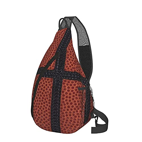 Mochila de baloncesto para llevar al pecho de la bandeja, ligera, mochila de viaje, bolsa de mensajero para senderismo, camping