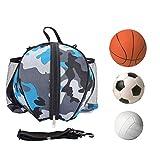 SGMY Bolsa de Baloncesto portátil para Transportar balones de Voleibol de fútbol, Bolsa de Hombro para Deportes al Aire Libre, Equipo de Entrenamiento, Bolsa de Almacenamiento (Blue)
