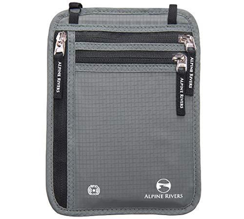 Alpine Rivers  AR-RFIDNW02B,  Damen Herren Unisex-Erwachsene Brustbeutel Graphite XL Universal