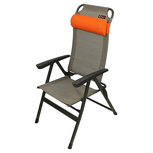 Portal Unisex Por2935-4260182766842 Campingstuhl, Grau Orange, Einheitsgröße