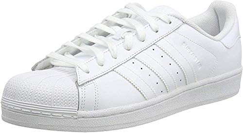 adidas Originals Superstar Foundation B27136, Unisex-Erwachsene Low-Top Sneaker, Weiß (Ftwr White/Ftwr White/Ftwr White), EU 38 2/3
