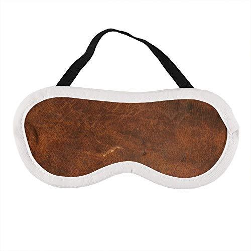 Oude Tan Lederen Textuur │ Koeienhuid Slaap Oog Masker Slaap Maskers Blinddoek Katoen Oog Kussen Zacht voor Vrouwen Mannen Reizen Naps Gepersonaliseerd