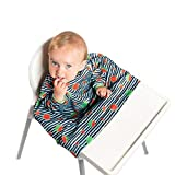 Bibado Wipe Clean Baby & Toddler Weaning Bib Coverall Attaches to Highchair &...