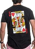 King | Royal Playing Card Husband Wife Bridal Wedding Newlywed T-Shirts -(King,M)