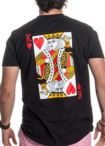 King | Royal Playing Card Husband Wife Bridal Wedding Newlywed T-Shirts -(King,L)
