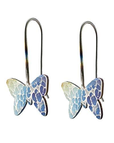 Complementos María Manuela - Pendientes Mariposa de color - Pendientes en acero inoxidable - Regalo - Fabricado artesanalmente en España