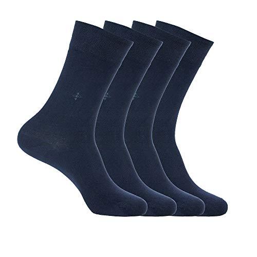 Bambus-Socken, natürlich, antibakteriell, nahtlos, weich, hergestellt in der Türkei, für Männer und Frauen - Blau - Einheitsgröße