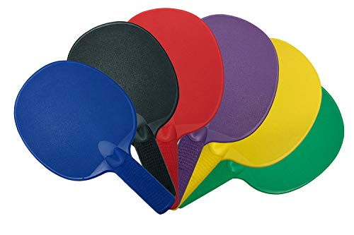 Cannon Sports Set of 6 Assorted Colors Unbreakable Table Tennis Paddles