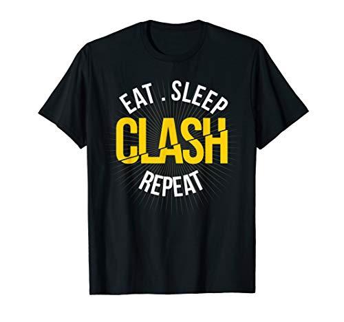 Gaming Clan: Eat, Sleep, Clash Wiederholen, Clash auf Trikot