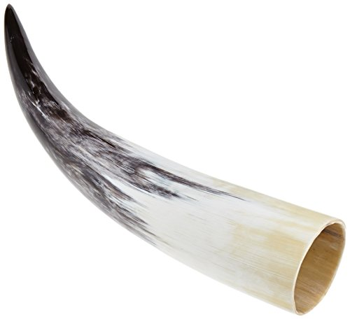 Drinking Horn, Live Action Role Play Accessory, Drinking Vessel True To The Original Style, Natural Product, Food-Safe, multicoloured