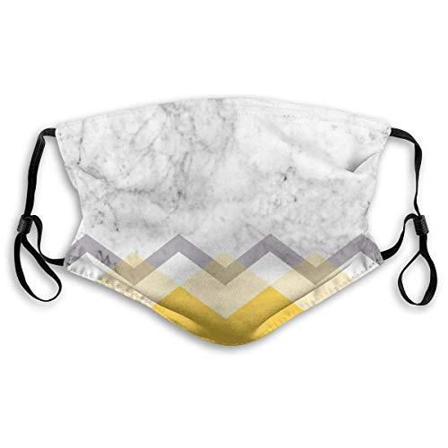 YYTT8 Gesichtsschutz Mundschutz Senf und Marmor Grafik, Hut Hals Gamasche Kopfbedeckung mit austauschbaren Filtern