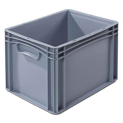 EURO-Behälter | LxB 400 x 300 mm | Wände und Boden geschlossen | Höhe 270 mm | VECTURA - Box Boxen EUR-Stapelbehälter Euronorm-Stapelkasten Euronorm-Stapelkästen Lagerbehälter Lagerkasten Lagerkästen Mehrzweckbehälter Vielzweckbehälter