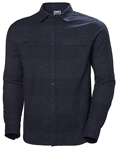 Helly Hansen Wool Ls T-Shirt à Manches Longues pour Homme XL 597 Bleu Marine à Carreaux