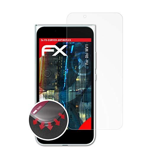 atFolix Schutzfolie kompatibel mit Obi MV1 Folie, entspiegelnde und Flexible FX Displayschutzfolie (3X)