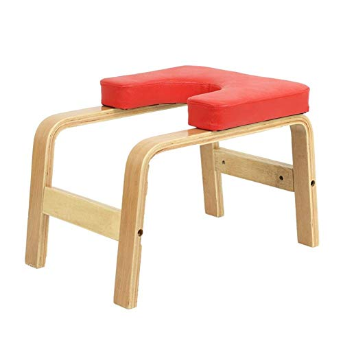 Hazjje-zatr061 Inverted Chair Yoga Auxiliary Chair Ergonomic Design Makes The Inverted Stand Easier Home Fitness Inverted Stool Wooden Inverted Machine Inverted Yoga Lovers Gift ( Color : Red )