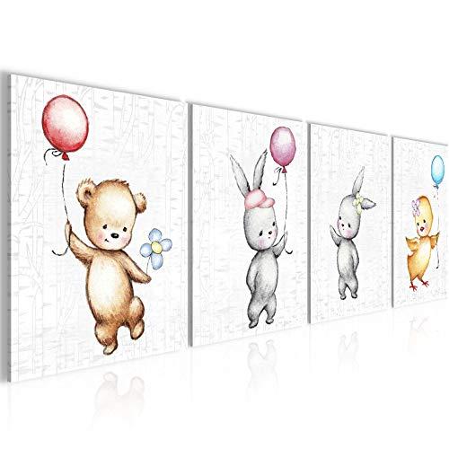 Bilder Kinderzimmer Tiere Wandbild 160 x 50 cm Vlies - Leinwand Bild XXL Format Wandbilder Wohnung Deko Kunstdrucke - MADE IN GERMANY - Fertig zum Aufhängen 017846a