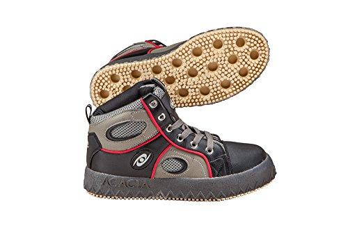 ACACIA Grip-Inator Broomball Shoes, Gray/Black/Gray, 10