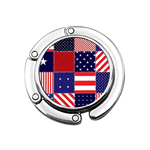 Bandera Americana Costura Plegable Mujer Bolso Percha Monedero Gancho Titular