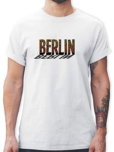 Städte - Berlin - M - Weiß - ich Bin EIN Berliner Shirt - - L190 - Tshirt Herren und Männer T-Shirts