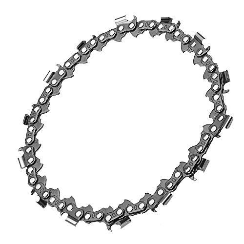 Xuqiang Cadena de la hoja de sierra de la cadena de 5 pulgadas para el arbolillo del ángulo de 125 mm Cadena de la cadena de la cadena de la madera que talla la herramienta de carpintería Herr