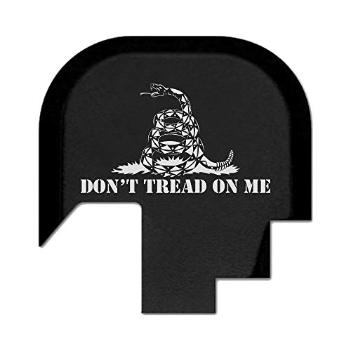 BASTION Laser Engraved Rear Butt Cover Back Plate for Smith & Wesson M&P 9/40 Shield SUBCOMPACT ONLY - Don't Tread On Me