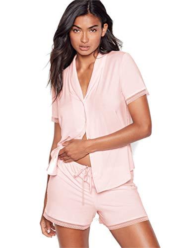 Victorias Secret - Superweicher kurzer Pyjama aus Modal - Shorts + Top (Mauve-Kreide) Size S Small
