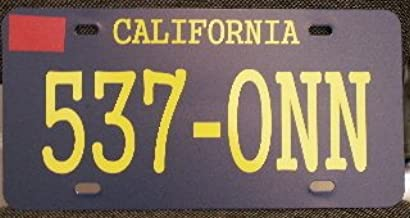 Motown Automotive Design Starsky and Hutch 537-ONN Metal License Plate TAG 6 X 12 Movie TV Show HOT Rod Muscle CAR Classic Museum Collection Novelty Gift Sign Garage Man CAVE FITS Ford Gran Torino